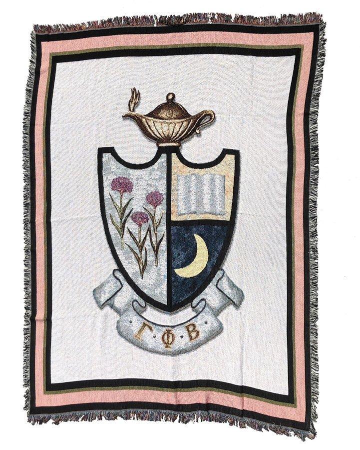 Gamma Phi Beta Afghan Blanket Throw