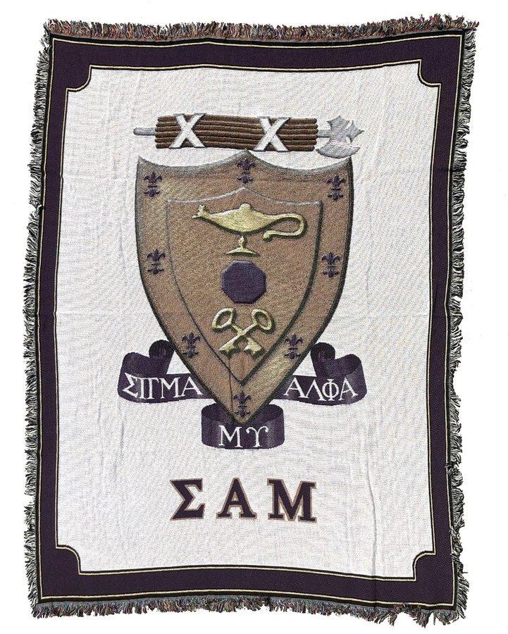 Sigma Alpha Mu Afghan Blanket Throw