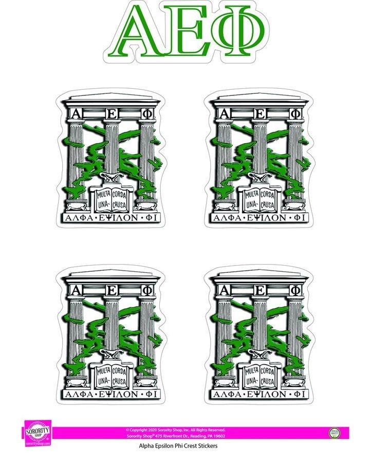 Alpha Epsilon Phi Crest Sticker Sheet