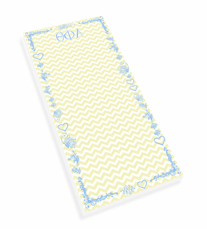 Theta Phi Alpha Chevron Long Notepad