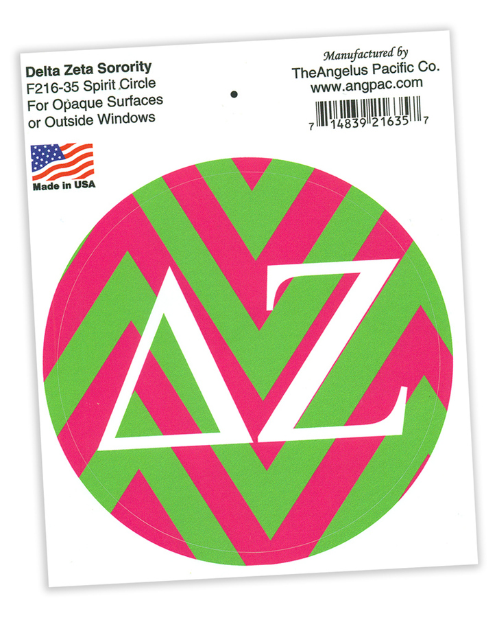 Sorority Spirit Circle Decal