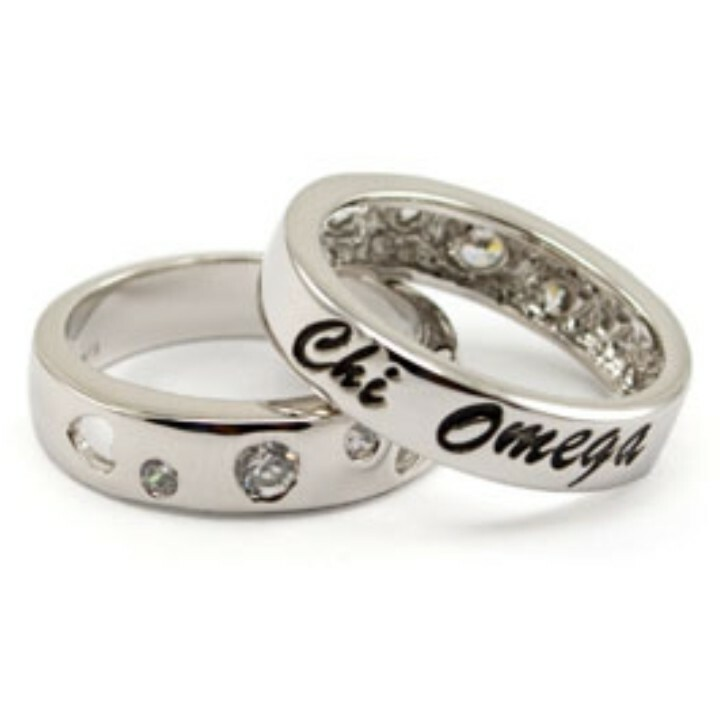 Sorority CZ Thin Band Ring