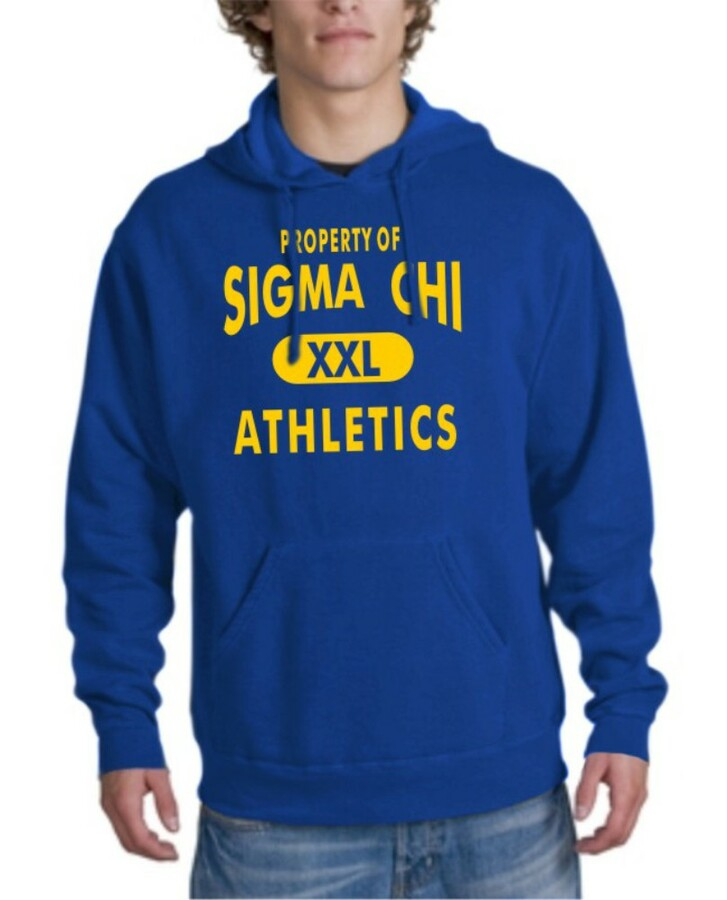 Sigma Chi Property Of Athletics Hoodie