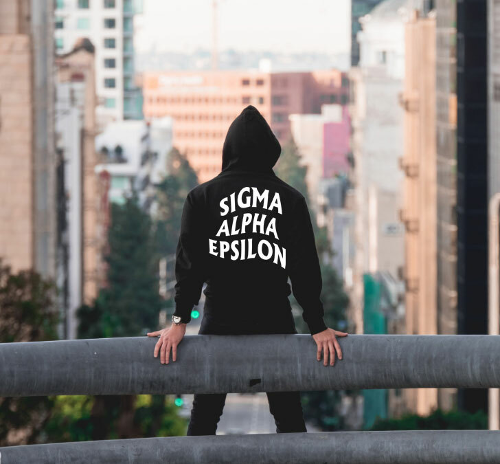 Sigma Alpha Epsilon Social Hooded Sweatshirt