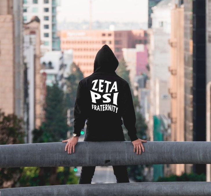 Zeta Psi Social Hooded Sweatshirt