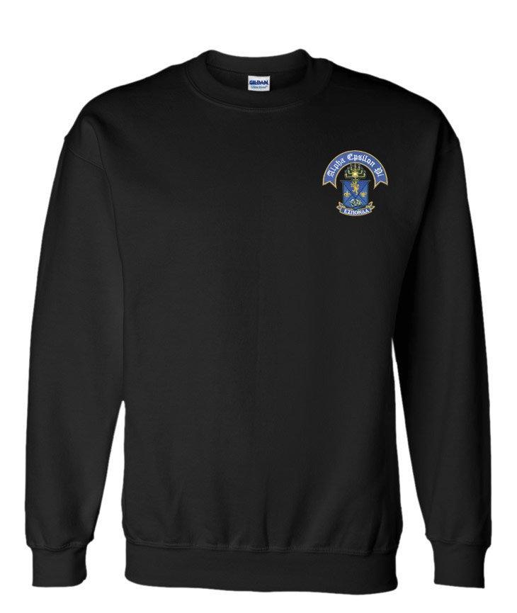 DISCOUNT-Alpha Epsilon Pi World Famous Crest - Shield Crewneck Sweatshirt