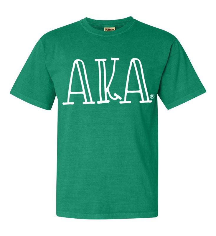 Alpha Kappa Alpha Comfort Colors Heavyweight Design T-Shirt