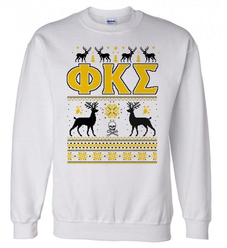 Phi Kappa Sigma Ugly Christmas Sweater Crewneck Sweatshirt