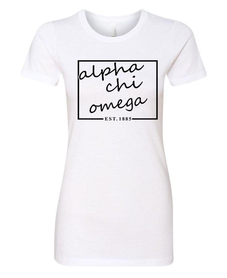 Alpha Chi Omega Triblend Short Sleeve Box T-Shirt