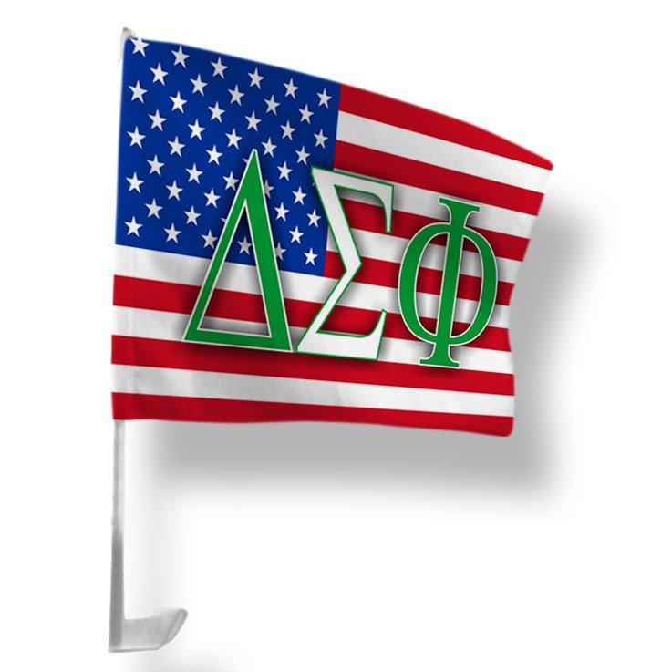 Delta Sigma Phi USA Car Flag