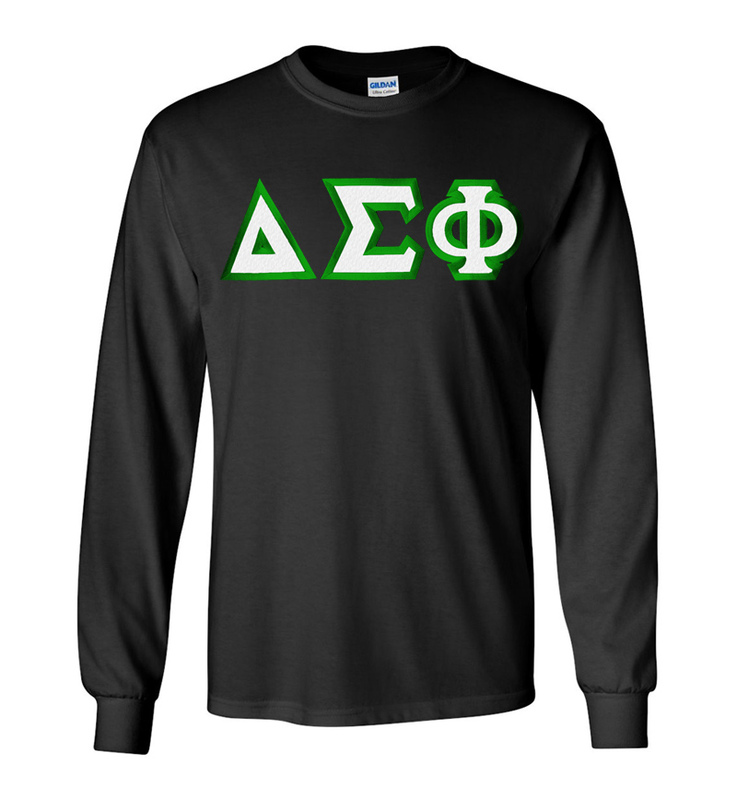 $19.99 Delta Sigma Phi Custom Twill Long Sleeve T-Shirt