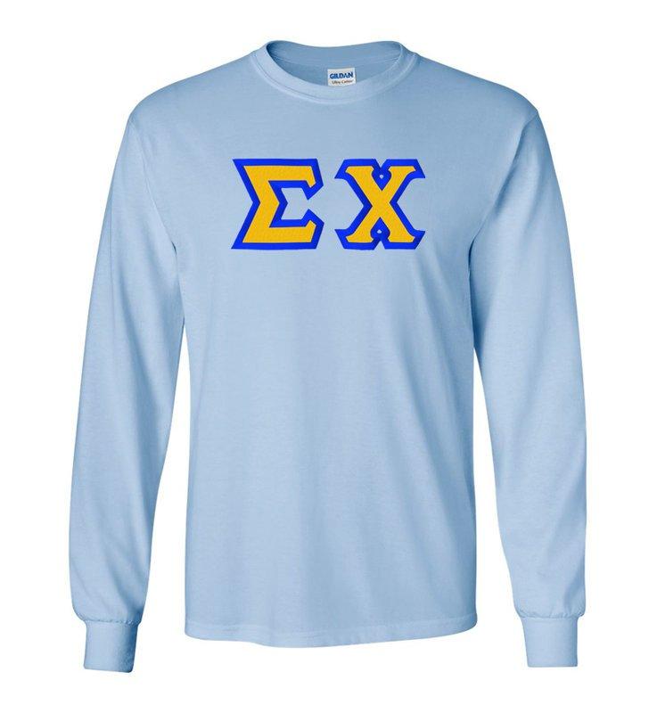 $19.99 Sigma Chi Custom Twill Long Sleeve T-shirts