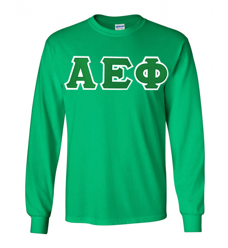 DISCOUNT Alpha Epsilon Phi Lettered Long Sleeve Tee