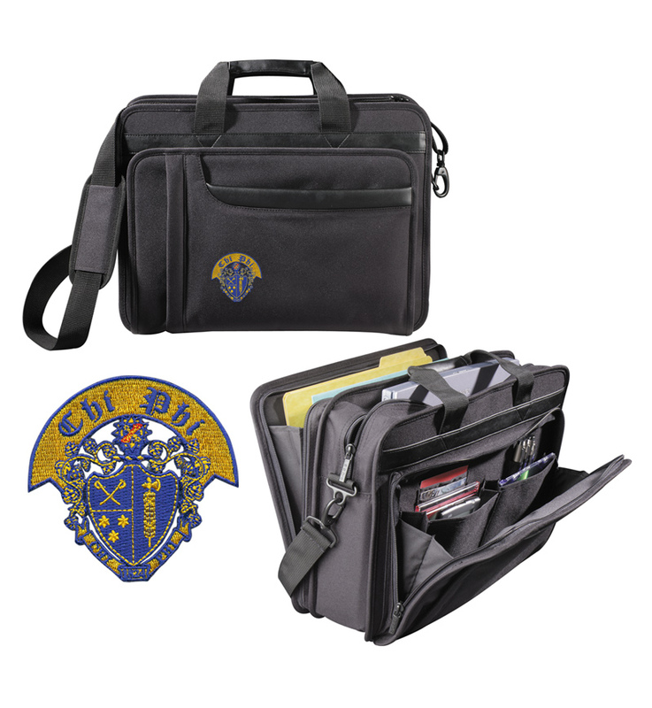 DISCOUNT-Chi Phi Crest - Shield Briefcase Attache