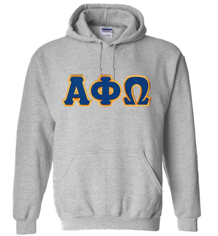 DISCOUNT Alpha Phi Omega Lettered Hooded Sweatshirt