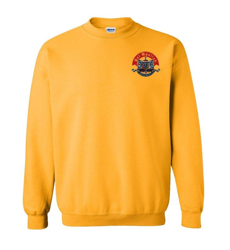 DISCOUNT-Psi Upsilon World Famous Crest - Shield Crewneck Sweatshirt