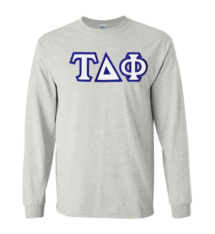 Tau Delta Phi Custom Twill Long Sleeve T-Shirt