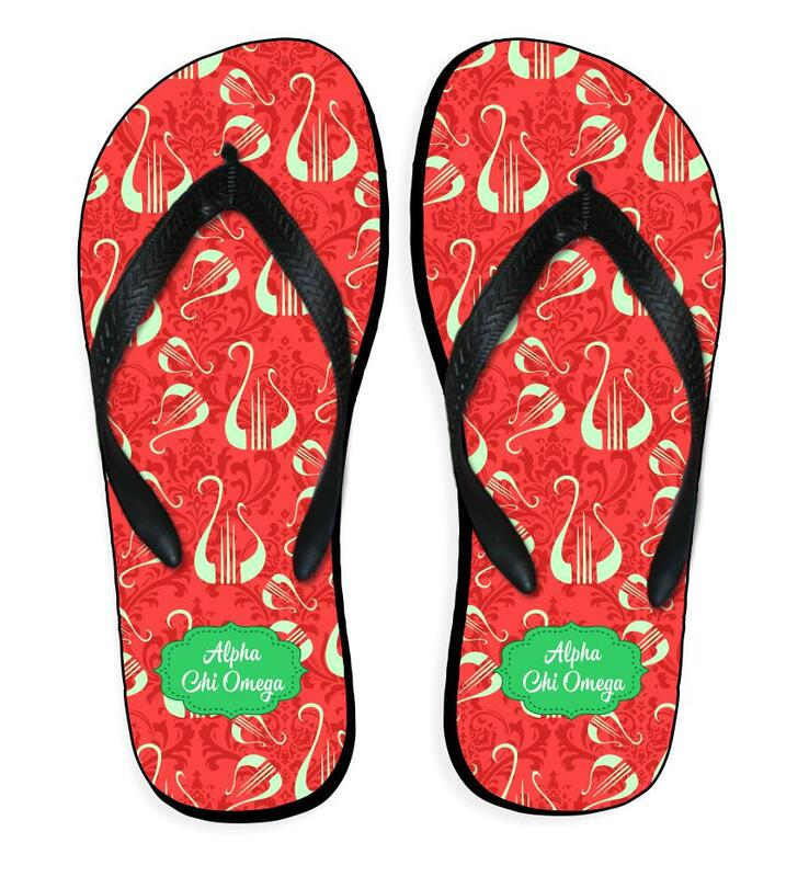 Sorority Mascot Color Flip Flop Sandals