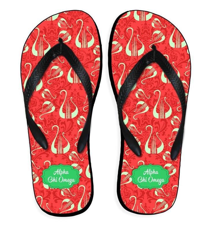 Sorority Mascot Color Flip Flop Sandals