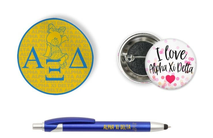 Alpha Xi Delta Sorority Pack $5.99
