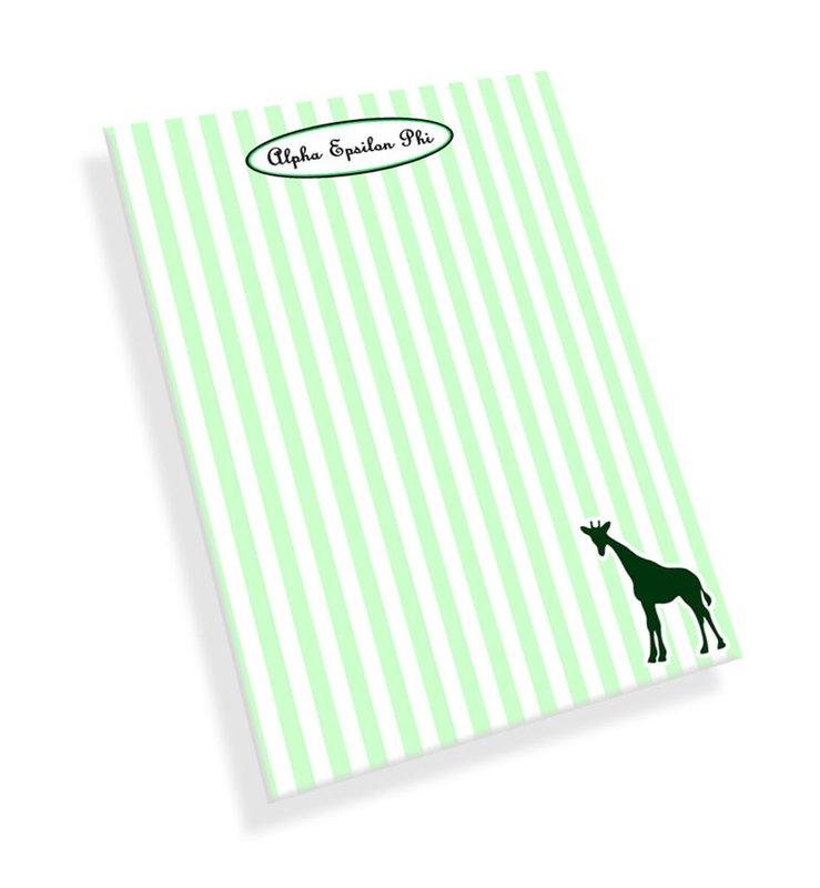 Alpha Epsilon Phi Mascot Notepad