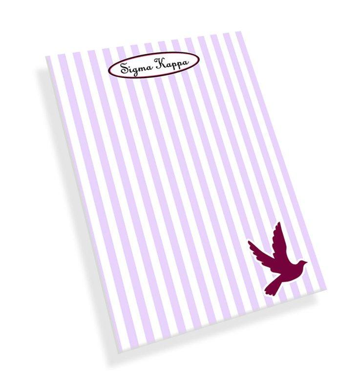 Sigma Kappa Mascot Notepad