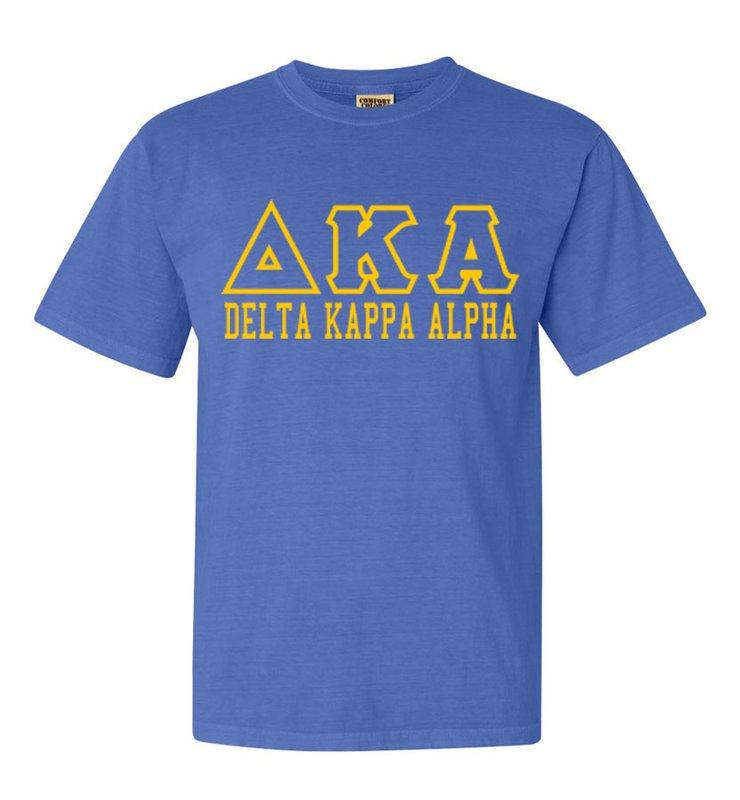 Delta Kappa Alpha Greek Outline Comfort Colors Heavyweight T-Shirt
