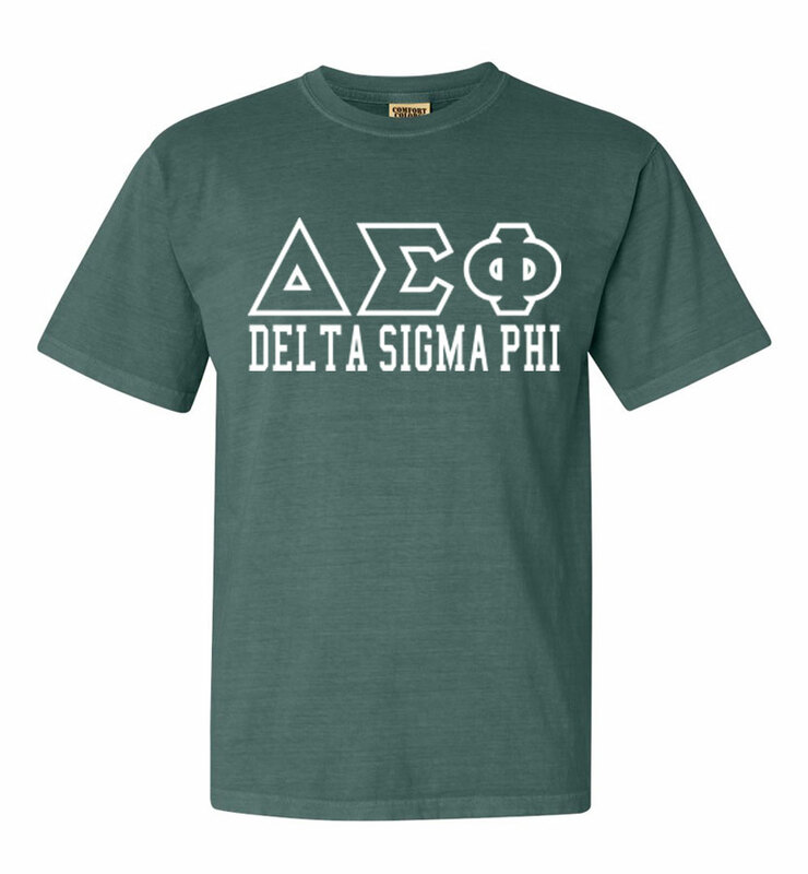 Delta Sigma Phi Greek Outline Comfort Colors Heavyweight T-Shirt