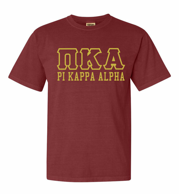 Pi Kappa Alpha Greek Outline Comfort Colors Heavyweight T-Shirt