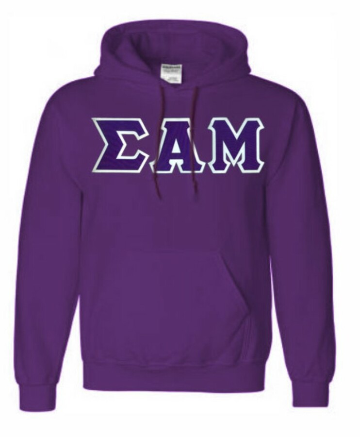 DISCOUNT Sigma Alpha Mu Lettered Hooded Sweatshirt