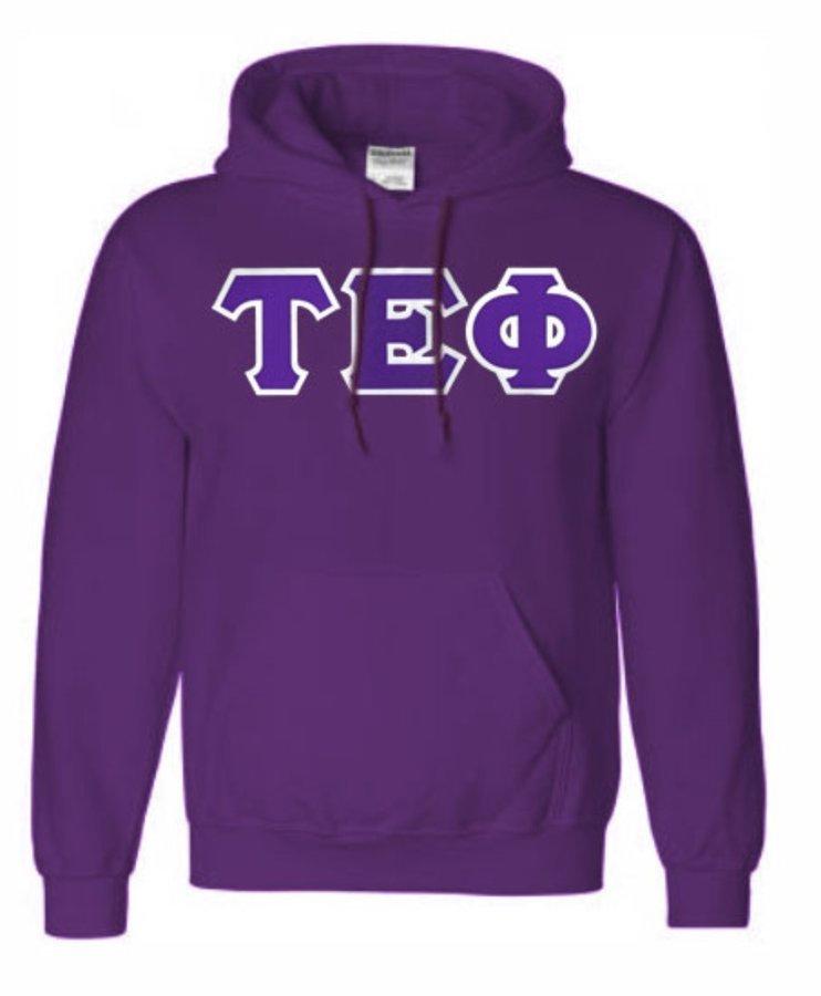 DISCOUNT Tau Epsilon Phi Lettered Hooded Sweatshirt