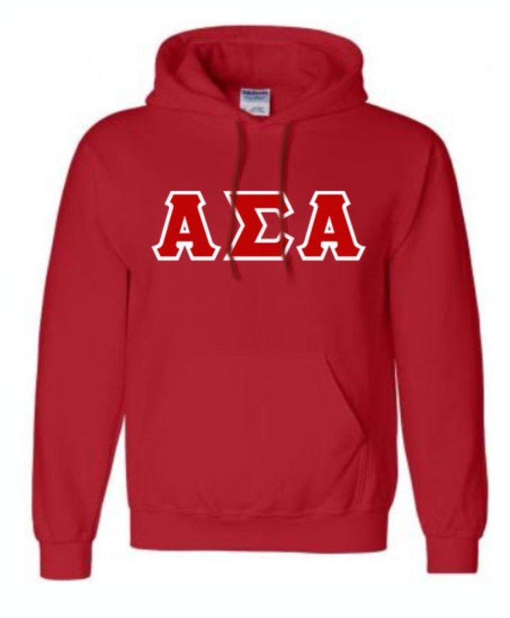 Alpha Sigma Alpha Sewn Sweatshirts Hoodie