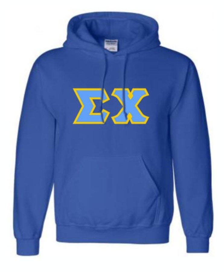 Sigma Chi Sewn Lettered Sweatshirts