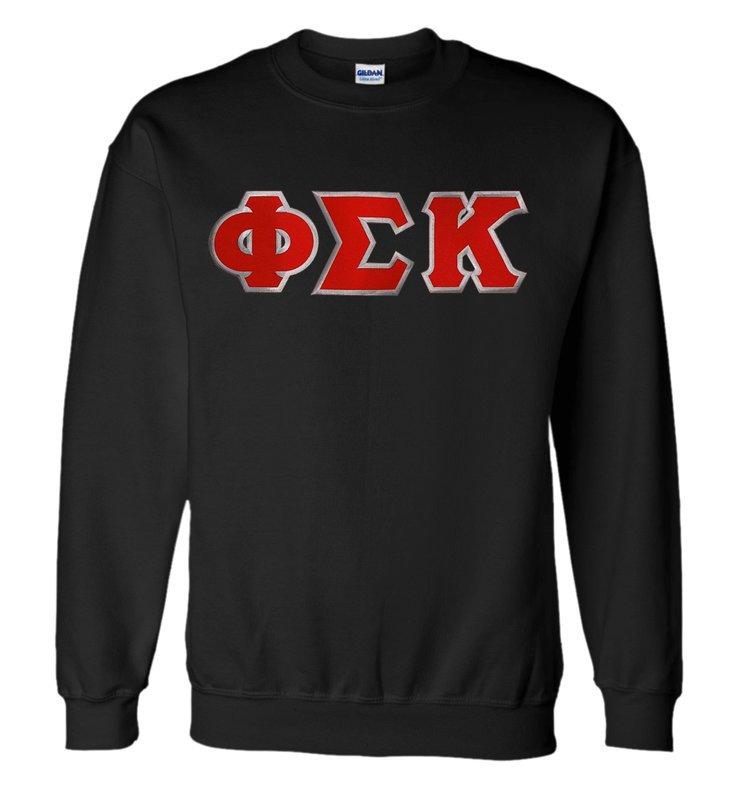 DISCOUNT Phi Sigma Kappa Lettered Crewneck