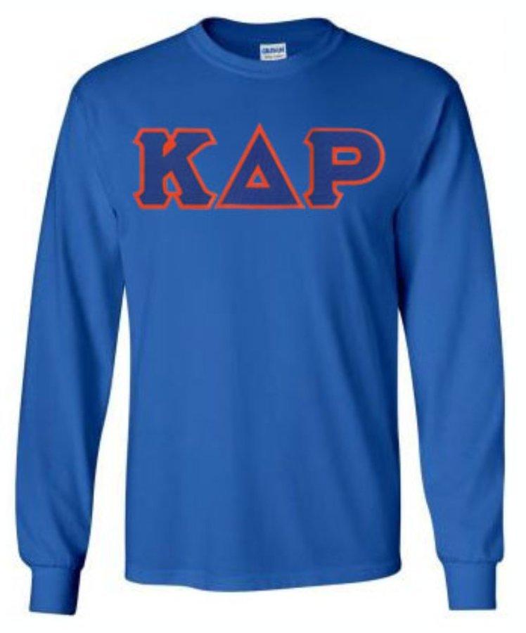 Kappa Delta Rho Lettered Long Sleeve Shirt