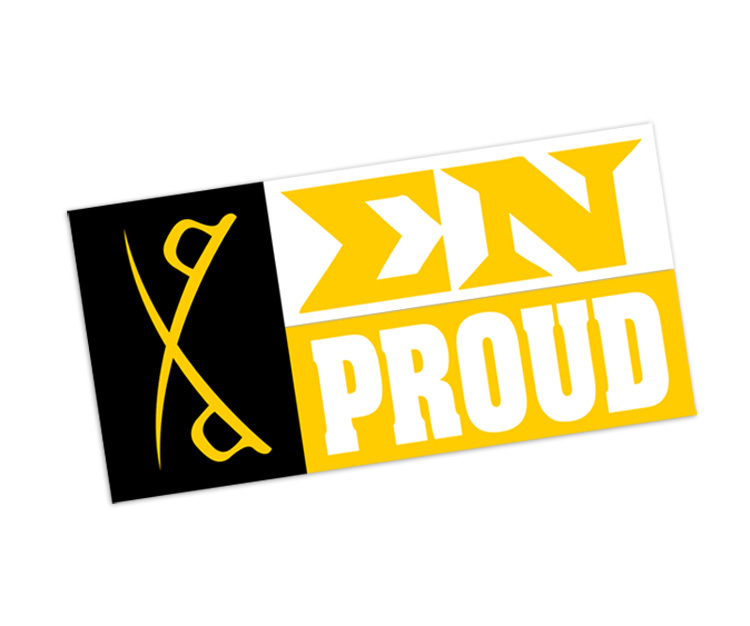 Sigma Nu Proud Bumper Sticker - CLOSEOUT