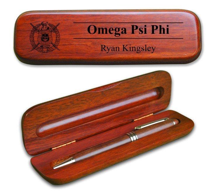 Omega Psi Phi Wooden Pen Set