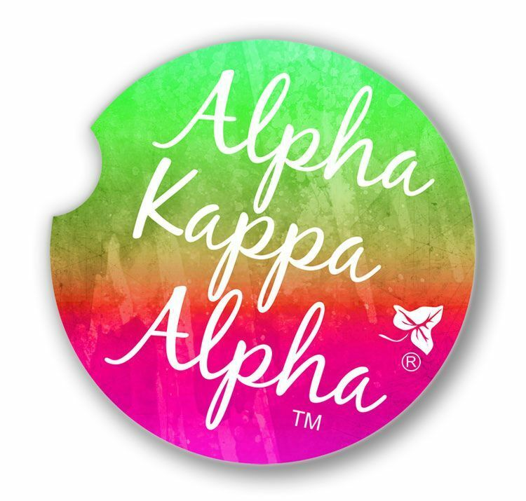 Alpha Kappa Alpha Sandstone Car Cup Holder Coaster