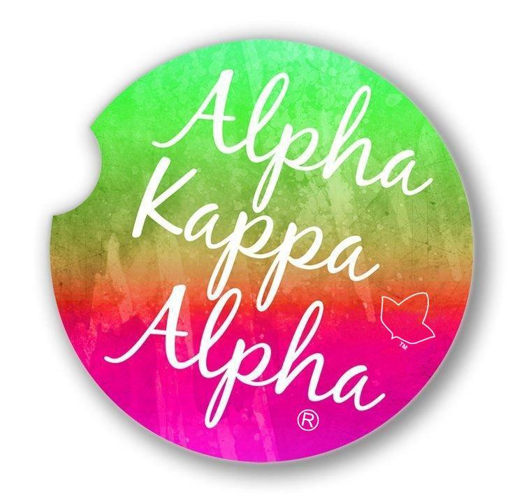 Alpha Kappa Alpha Sandstone Car Cup Holder Coaster