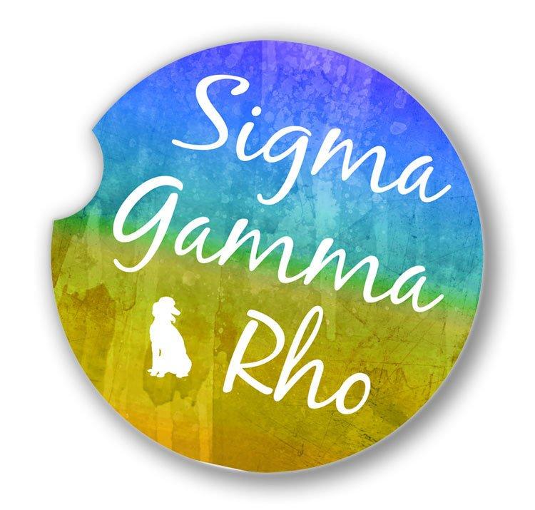 Sigma Gamma Rho Custom Sandstone Car Cup Holder Coaster