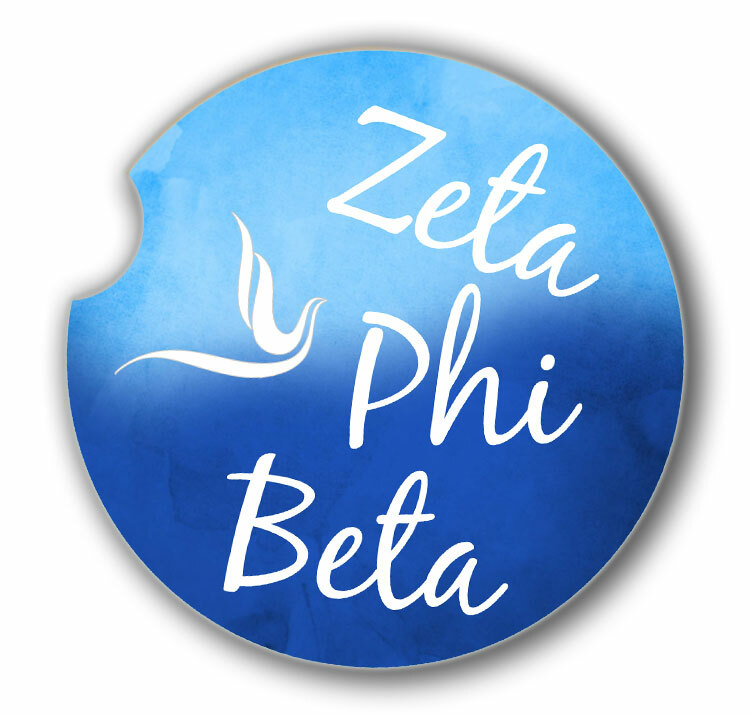 Zeta Phi Beta Custom Sandstone Car Cup Holder Coaster