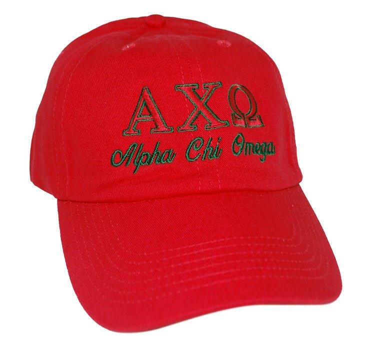 Alpha Chi Omega Script Cap