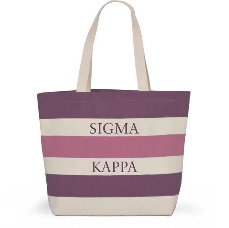 Sigma Kappa Bid Day Striped Tote