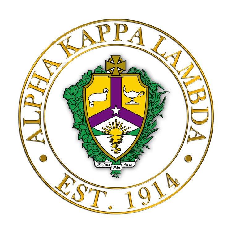 Alpha Kappa Lambda Circle Crest - Shield Decal