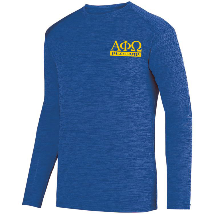 Alpha Phi Omega- $20 World Famous Dry Fit Tonal Long Sleeve Tee