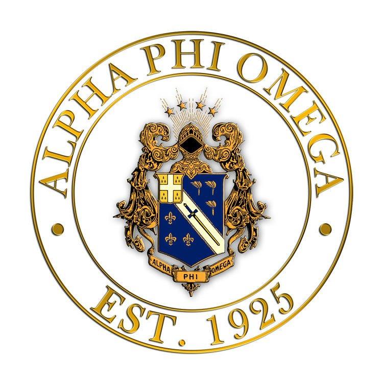 Alpha Phi Omega Circle Crest Decal