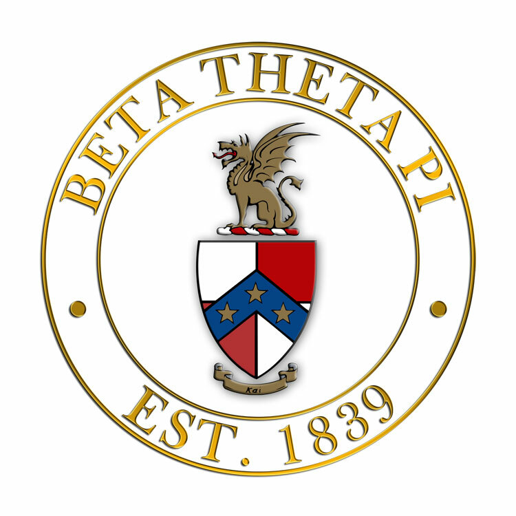Beta Theta Pi Circle Crest - Shield Decal