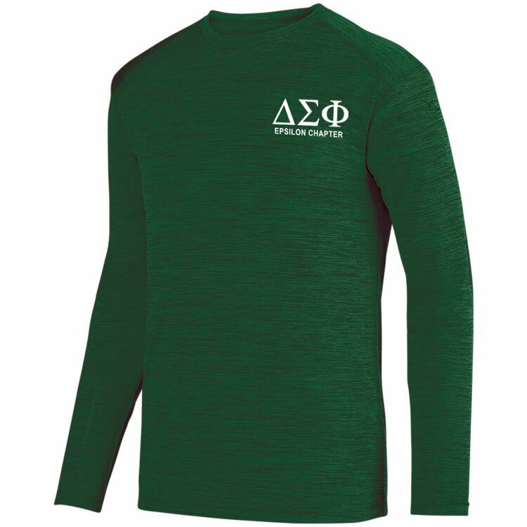 Delta Sigma Phi- $22.95 World Famous Dry Fit Tonal Long Sleeve Tee