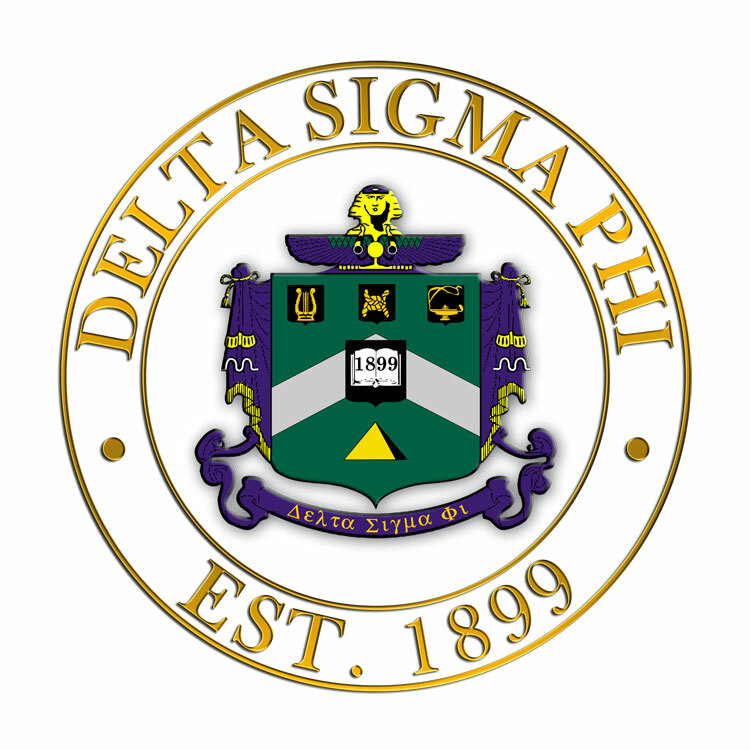 Delta Sigma Phi Circle Crest - Shield Decal