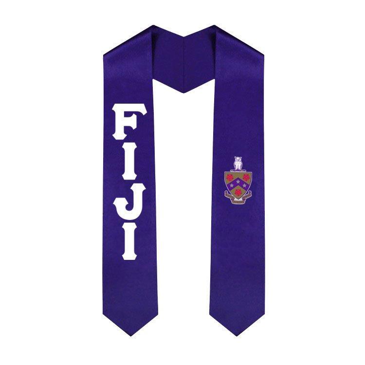 FIJI Fraternity Lettered Graduation Sash Stole